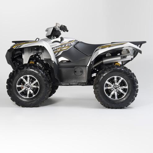 yamaha grizzly 700 atv exhaust hmf racing