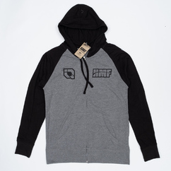 Stacked Zip-Up Hoody