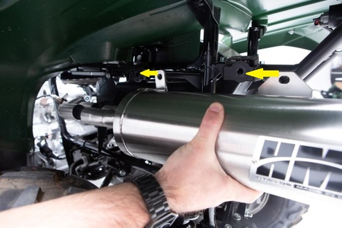 Kawasaki® Brute Force 750 3/4 System Exhaust Instructions