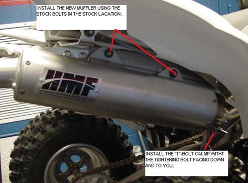 Yamaha® YFZ 450 Full System Exhaust Instructions